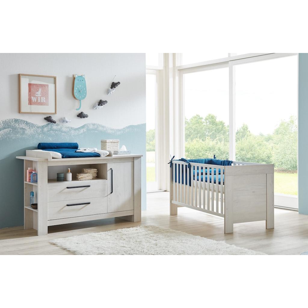 arthur berndt Babymöbel-Set »Til«, (Spar-Set, 2 St.), mit Kinderbett und Wickelkommode; Made in Germany
