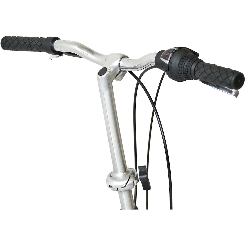 KCP Faltrad »Foldo Stahl«, 6 Gang, Shimano, Tourney RD-TZ500-GS Schaltwerk, Kettenschaltung, (1 tlg.)