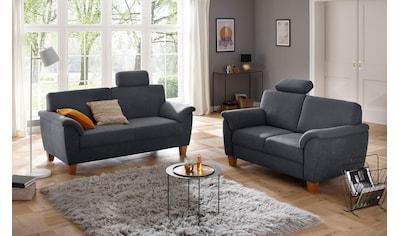 Home affaire 3-Sitzer »Alta«, mit Federkern und Kontrastnaht, Füße Buche eichefarben kaufen