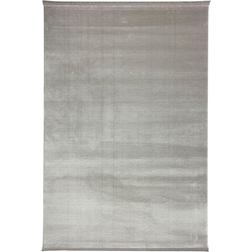 RESITAL The Voice of Carpet Teppich »Combo 7050«, rechteckig, 10 mm Höhe, Kurzflor, mit Fransen, Wohnzimmer