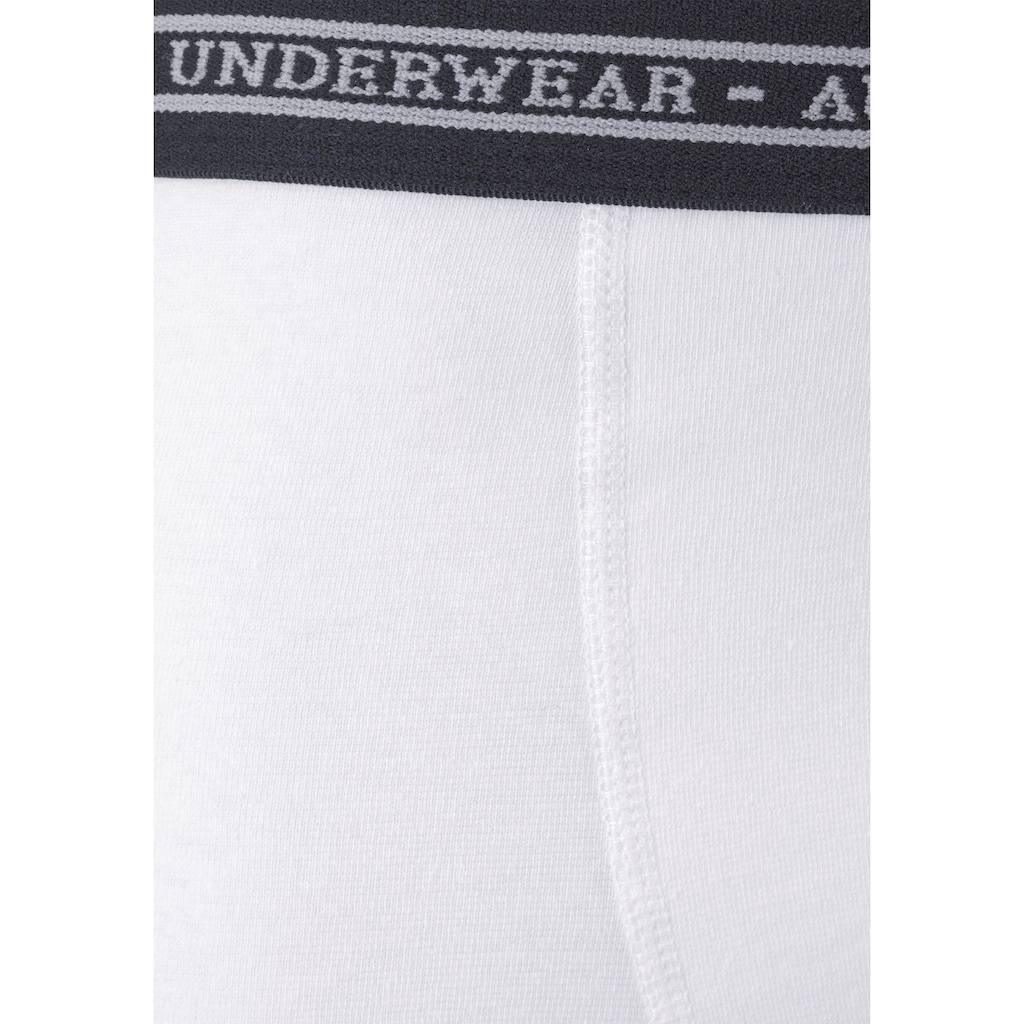 AUTHENTIC UNDERWEAR Boxer, (4 St.), in klassischer Passform mit Webbund