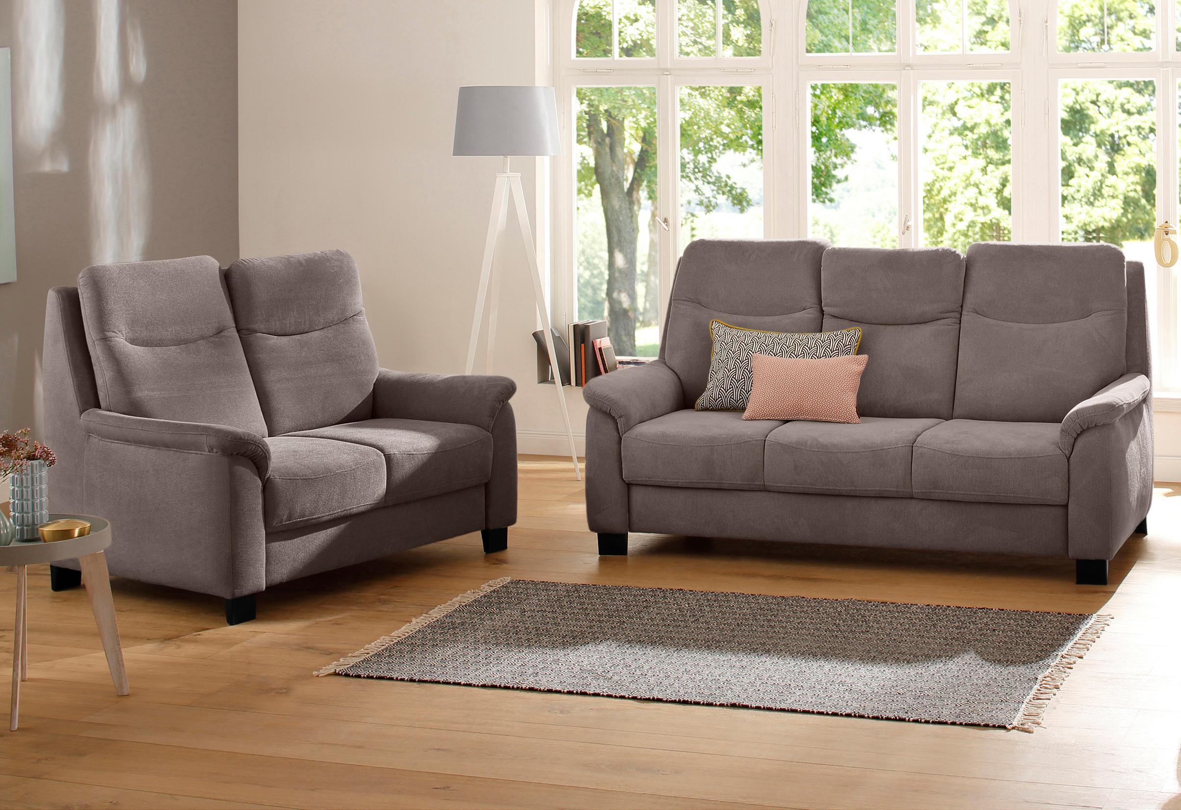 Home affaire 2-Sitzer + 3-Sitzer Set Bocca mit Federkern incl Kopfteilverstellung