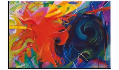 Wall-Art Glasbild »Marc, Kämpfende Formen«, in 2 Größen kaufen