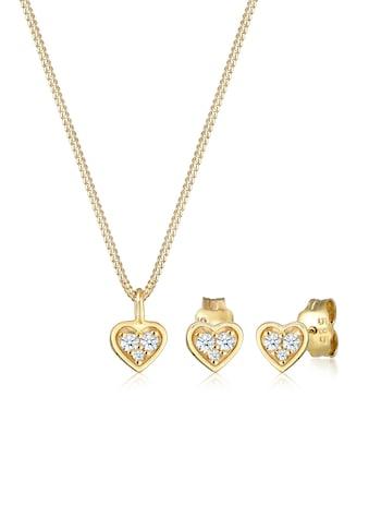 Diamore Schmuckset »Herz Liebe Valentin Diamant (0.13 ct) 585 Gelbgold« kaufen