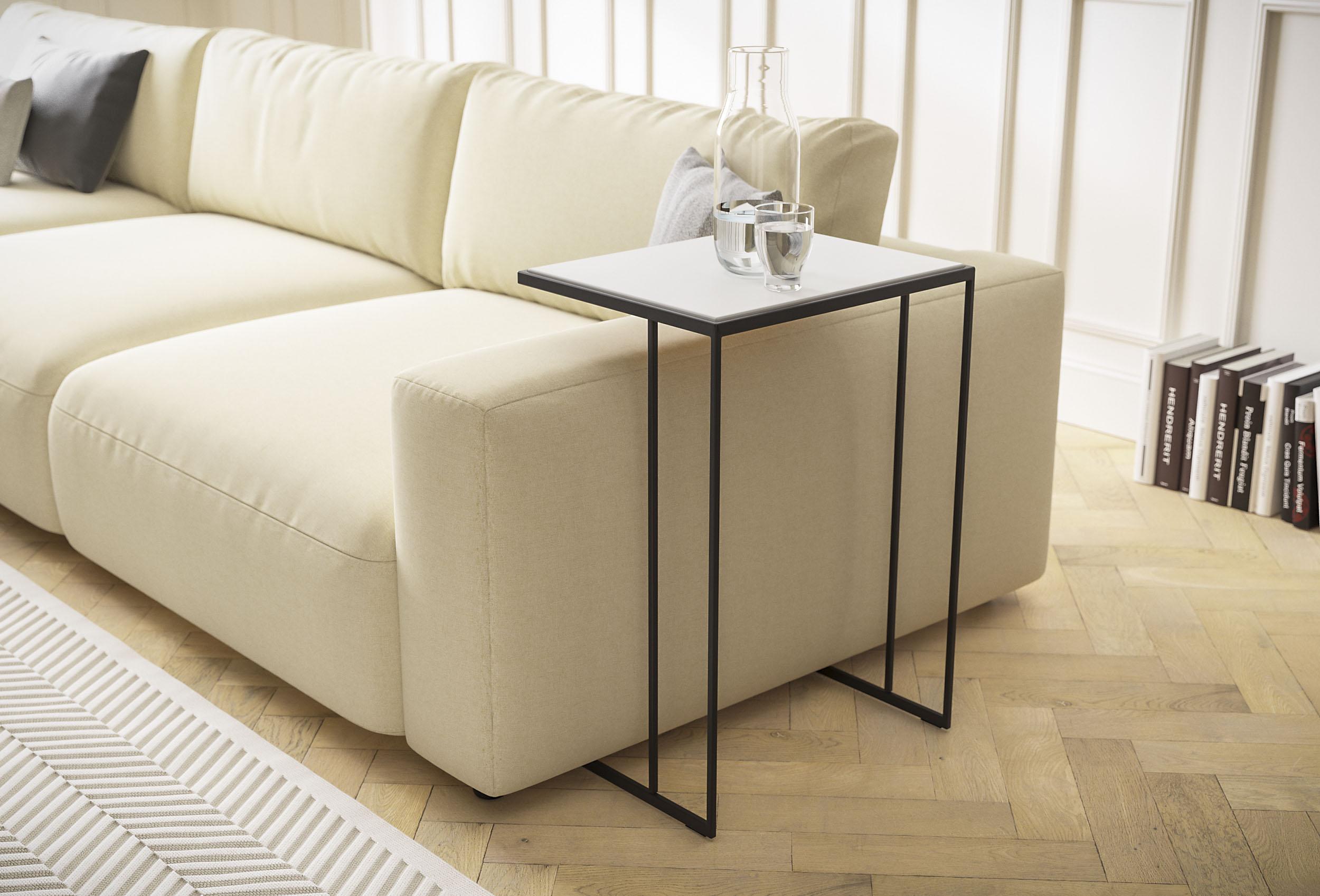 GALLERY M Beistelltisch Toscana weiß Beistelltische Tische