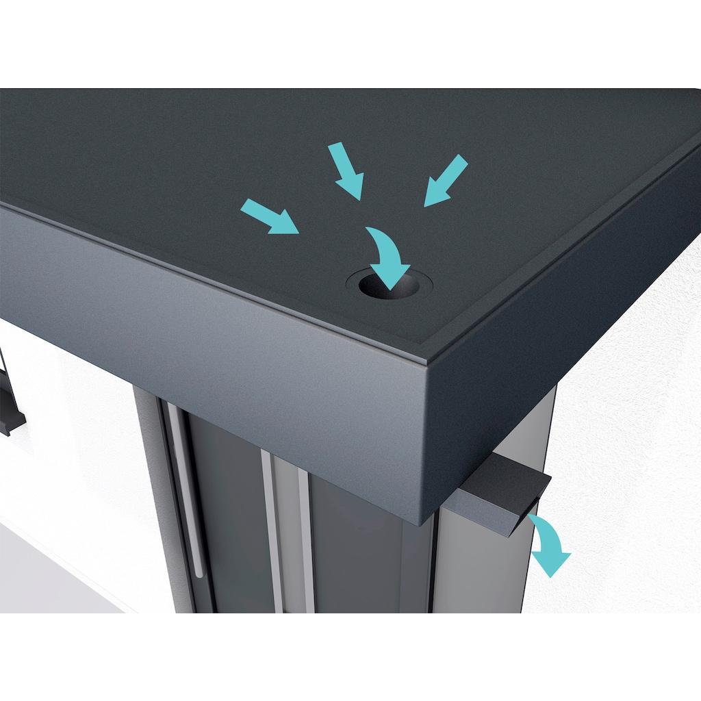 GUTTA Rechteckvordach »BS Plus«, mit Wasserspeier rechts, BxTxH: 200x90x14,5 cm
