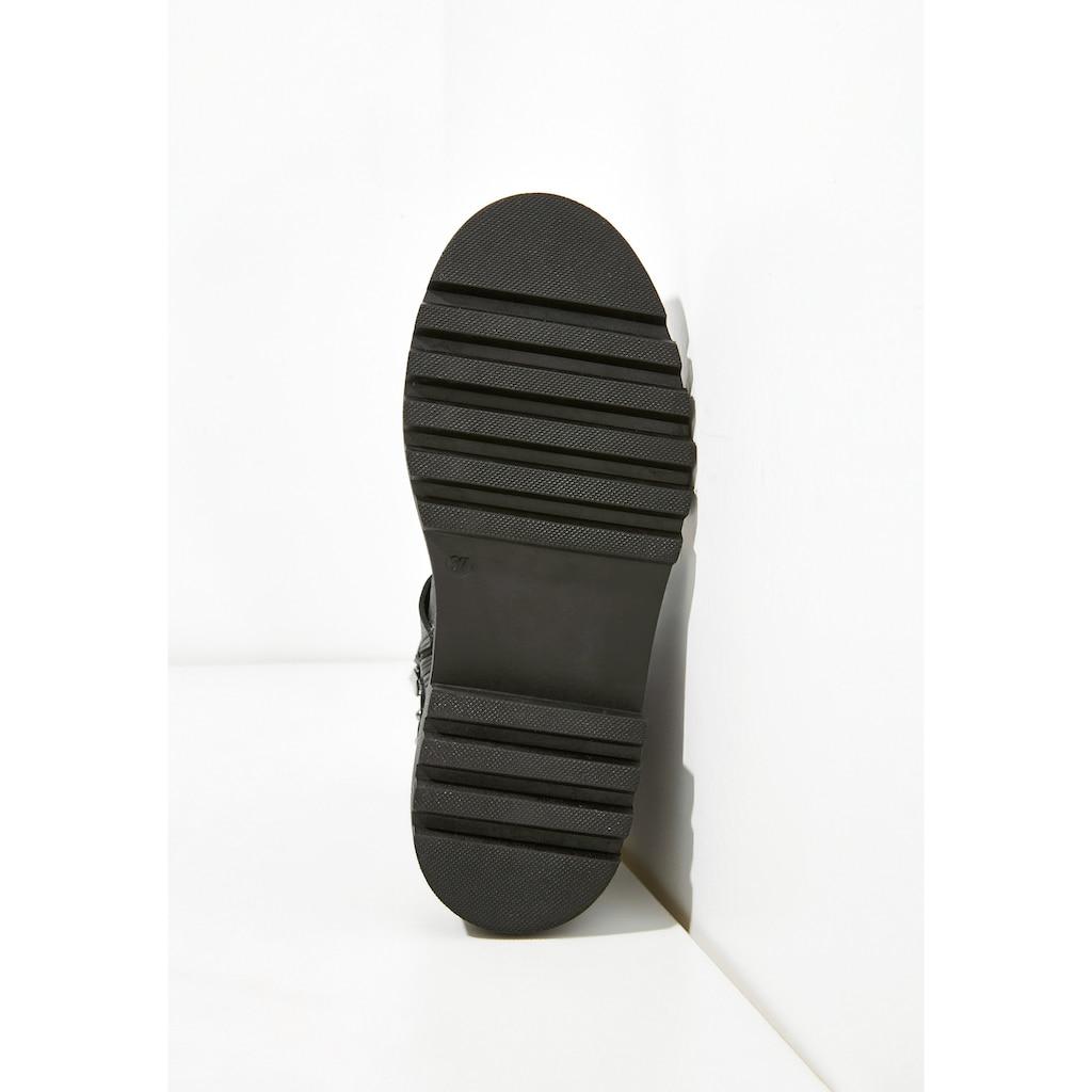 INUOVO Schnürstiefelette »Glattleder«
