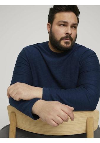 TOM TAILOR Men Plus Rundhalspullover »Sweatshirt in Melange Optik« kaufen