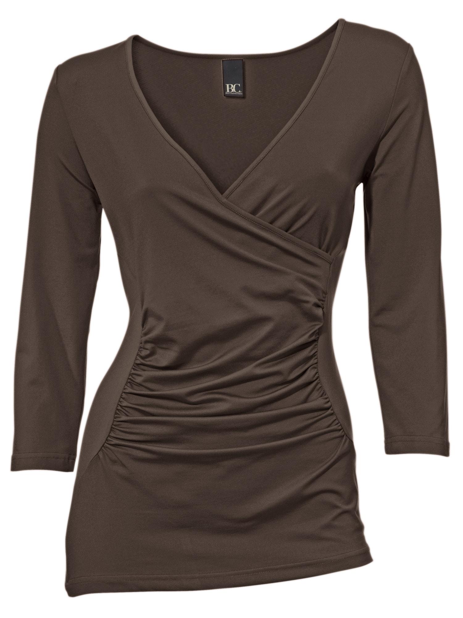 heine TIMELESS Wickelshirt Tactel | Bekleidung > Shirts > Wickelshirts | Braun | Ca - Elasthan | Heine Timeless