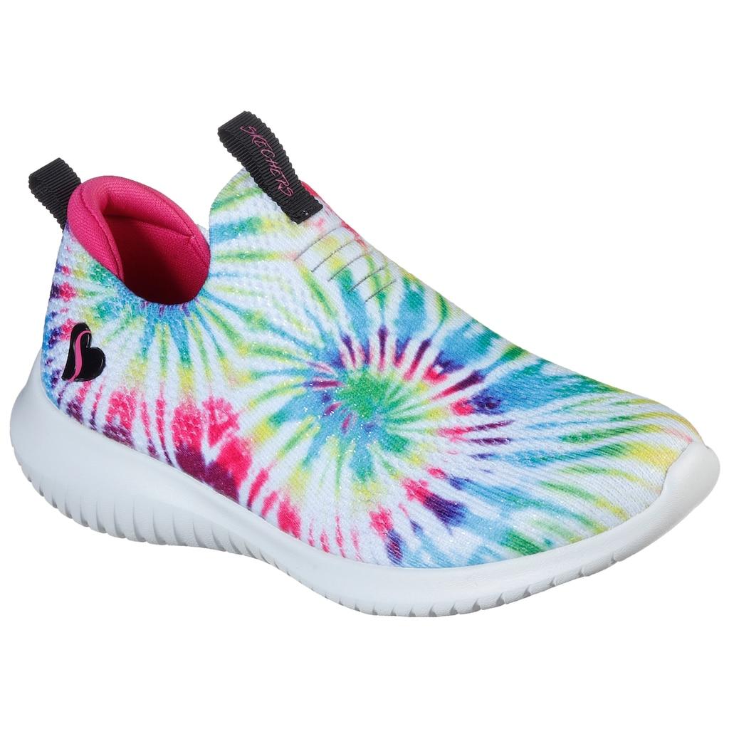 Skechers Kids Slip-On Sneaker »Ultra Flex-Groovin Vibes«, im coolen Batik-Look