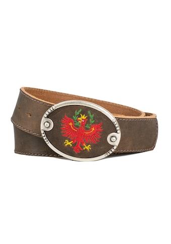 Der Trachtler Ledergürtel »Hias«, mit modischer Ledereinlage kaufen