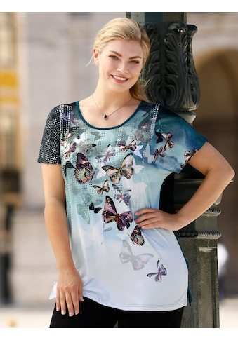 m. collection Print-Shirt, mit Schmetterlingsdruck kaufen