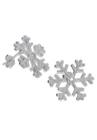 Adelia´s Kettenanhänger »Ohrschmuck Schneeflocke 925 Silber« kaufen