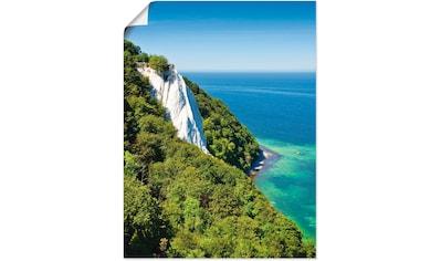 Artland Wandbild »Kreidefelsen auf der Insel Rügen I«, Küste, (1 St.), in vielen... kaufen