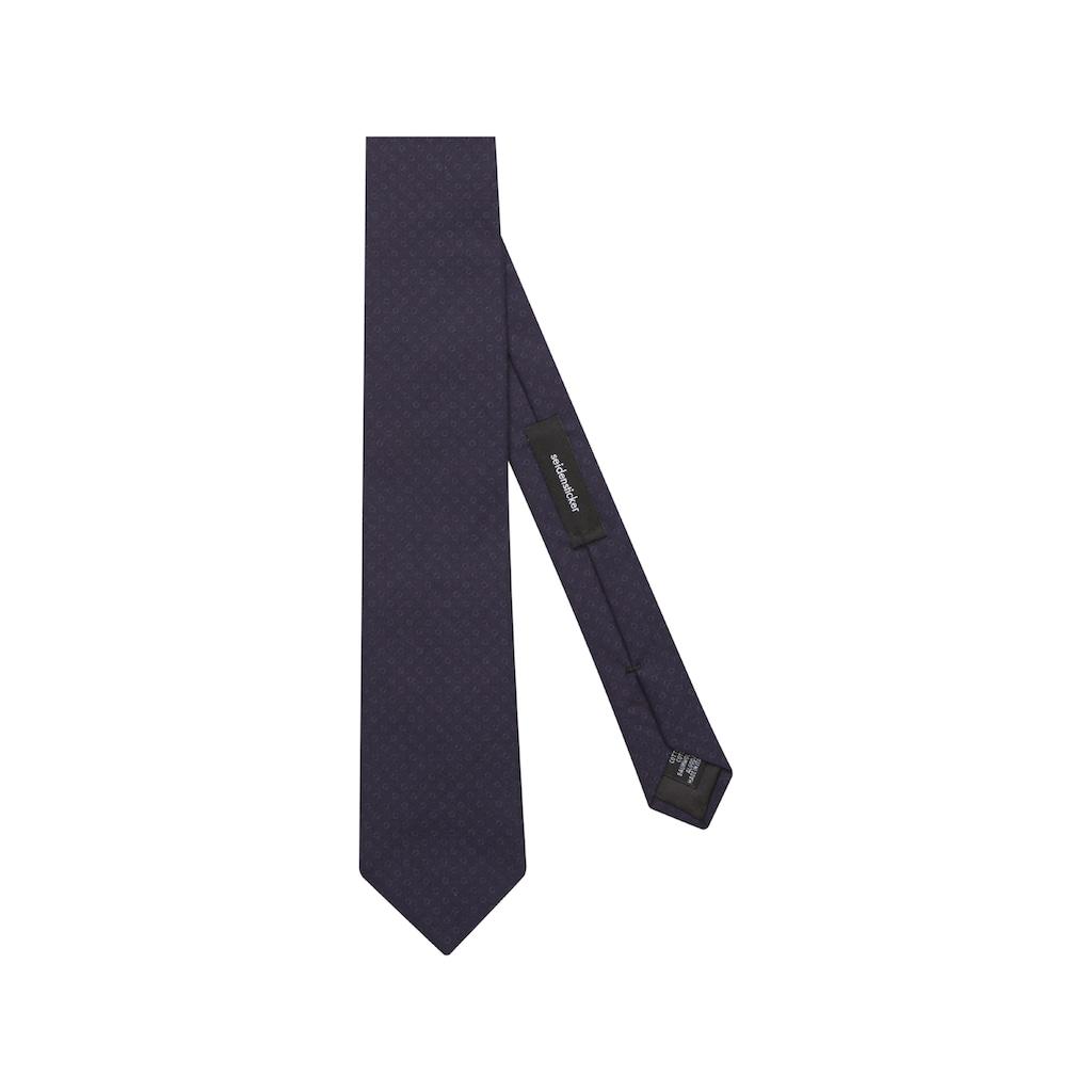 seidensticker Krawatte »Schwarze Rose«, Breit (7cm) Uni