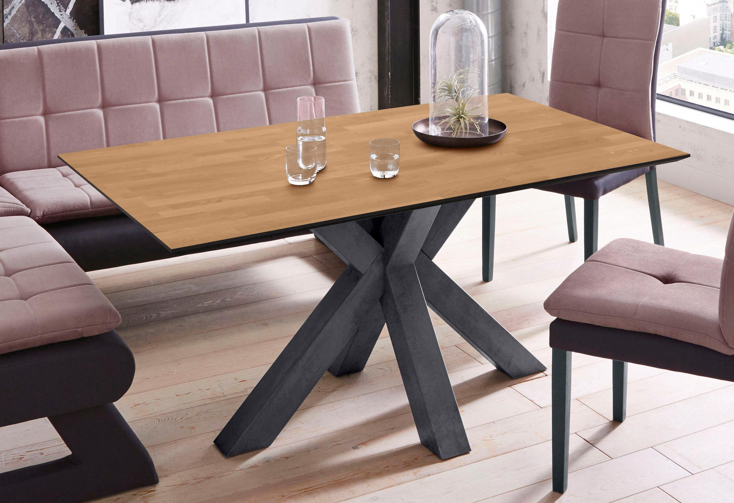 Mäusbacher Esstisch, Breite 160 cm schwarz Esstisch Esstische rechteckig Tische