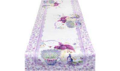 Delindo Lifestyle Tischläufer »Lavendel TÖPFCHEN«, (1 St.), Strukturgewebe, bedruckt kaufen