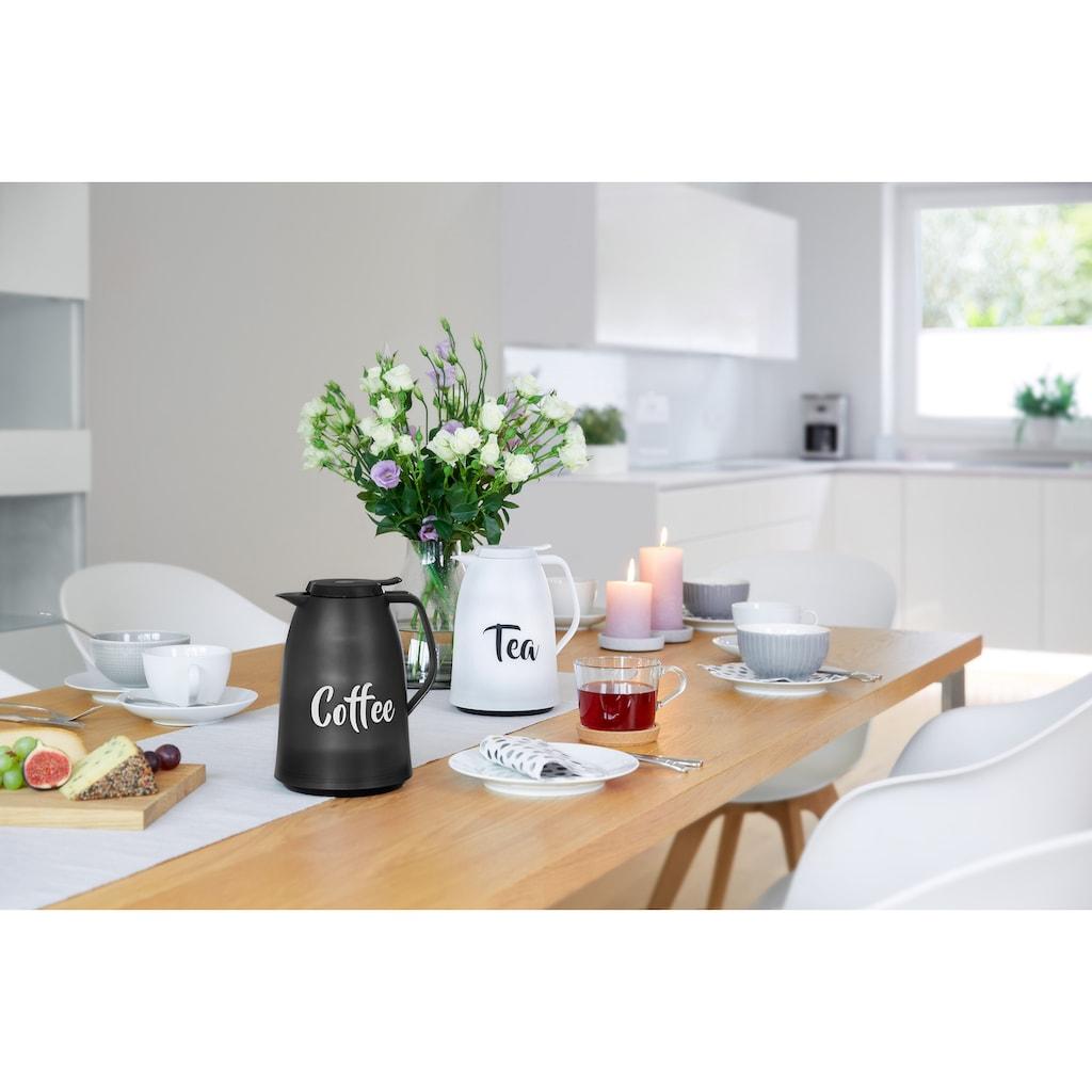 """Emsa Isolierkanne »Mambo«, 1 l, (1), schönes Design mit """"Tea"""" Schriftzug, Made in Germany"""