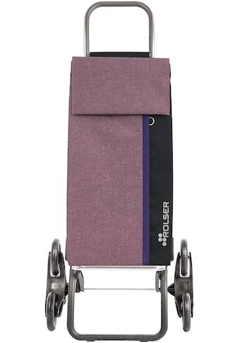 ROLSER Einkaufstrolley »Logic RD6 Kangaroo Tweed«, mit 6 Rädern, zuzammenplappbar, Treppensteiger kaufen