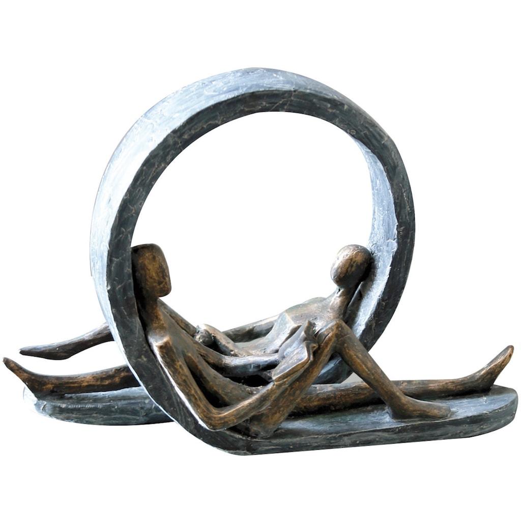 Casablanca by Gilde Dekofigur »Skulptur Auszeit«, Dekoobjekt, Höhe 22 cm, mit Spruchanhänger, Wohnzimmer