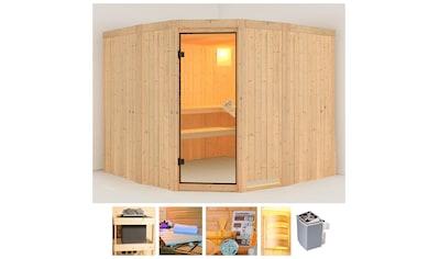 KONIFERA Sauna »Horsta 3«, 231x231x198 cm, 9 kW Ofen mit int. Steuerung kaufen