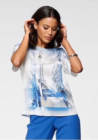 GERRY WEBER Blusenshirt, mit Frontprint und gestreiftem Rückenteil kaufen