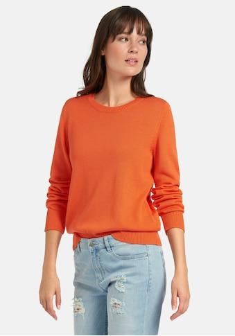 Peter Hahn Strickpullover »Rundhals-Pullover aus Baumwolle«, Dekorative Naht kaufen