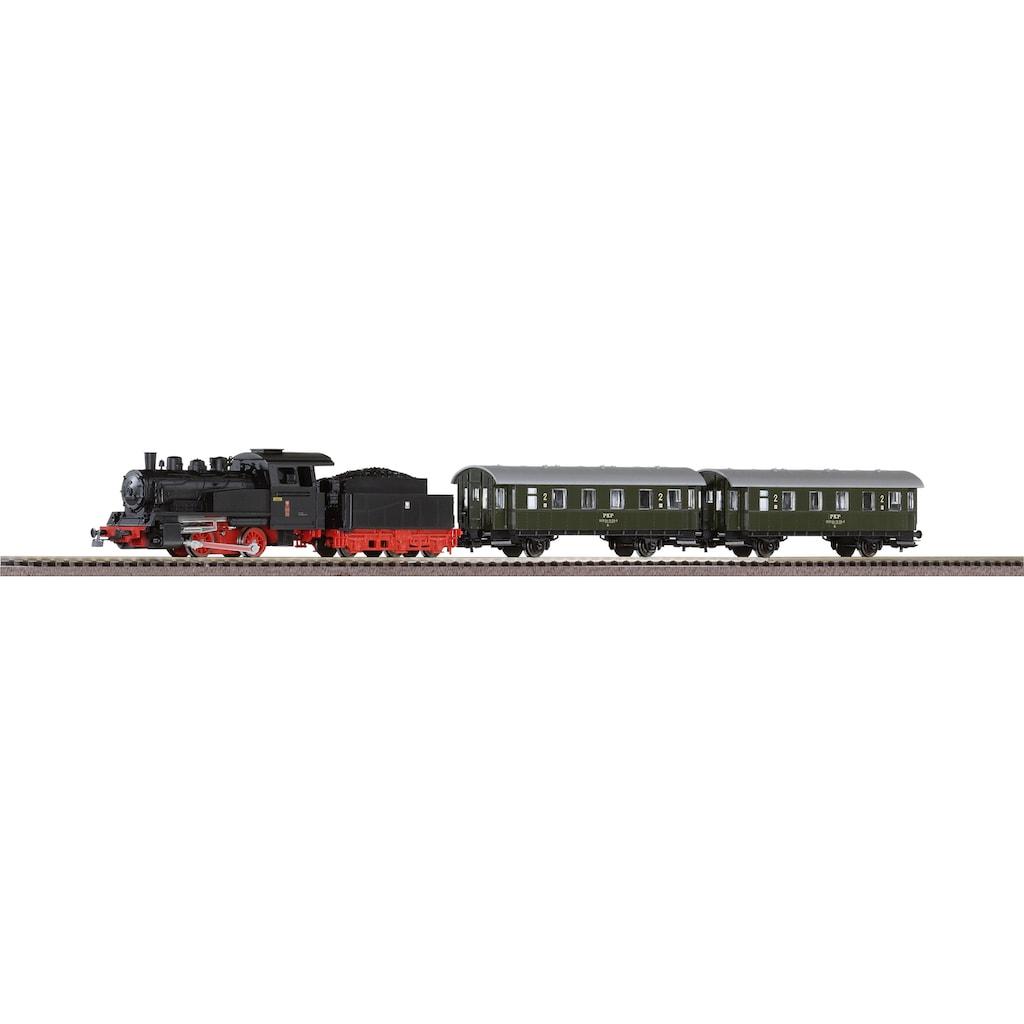 PIKO Modelleisenbahn Startpaket »Dampflok mit Personenwagen PKP, (97933)«