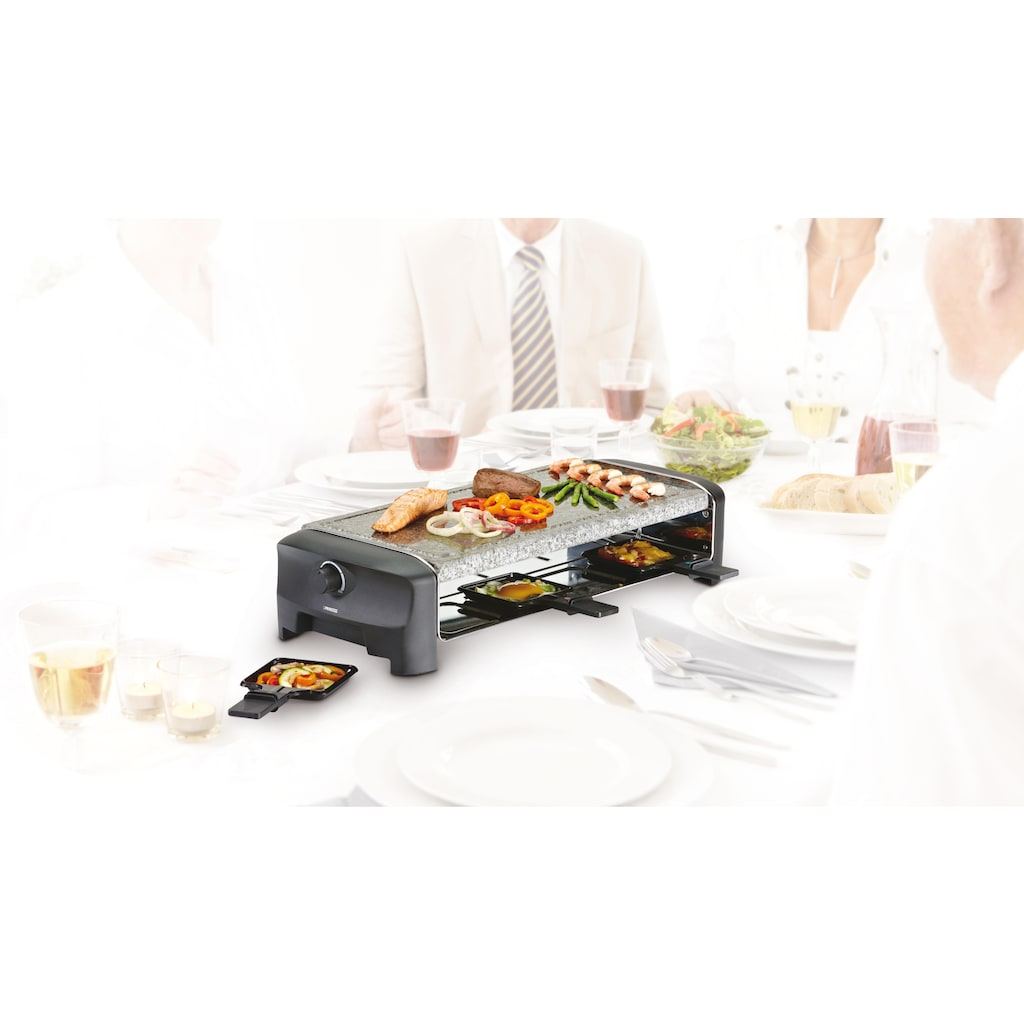 PRINCESS Raclette »Stonegrillparty 162830«, 8 St. Raclettepfännchen, 1400 W