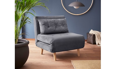 my home Daybett, mit ausziehbaren Metallstützbeinen, Schlafsessel in zwei Größen erhältlich, modernes Gästebett kaufen