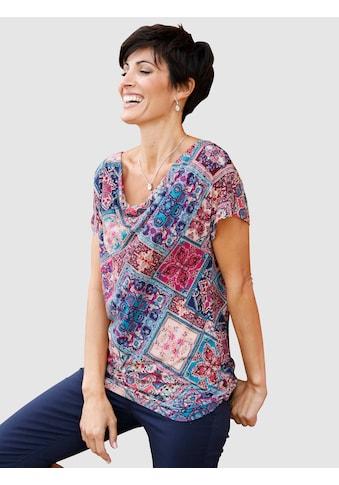 Paola 3/4-Arm-Shirt, mit Wasserfallausschnitt kaufen