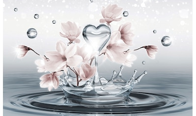 Consalnet Fototapete »Magnolie 3D im Wasser«, Motiv kaufen