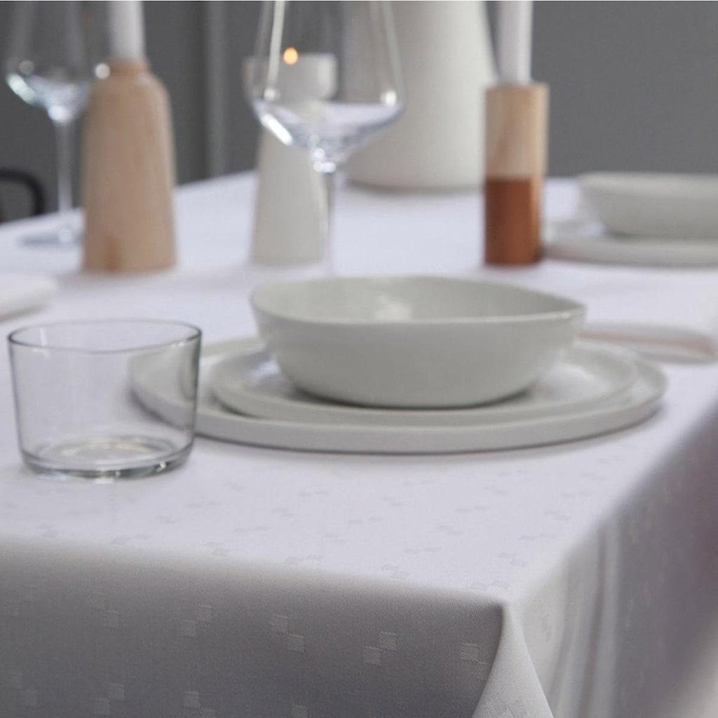 DDDDD Tischdecke »Quadrat«, Damast, mit kleinen dezenten Quadraten