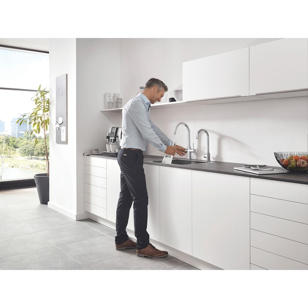 Grohe Küchenarmatur »Blue Professional C-Auslauf Set«, Trinkwasser Still, Medium oder sprudelnd, mit LED Anzeige, App steuerbar