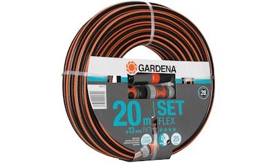 """GARDENA Set: Gartenschlauch »Comfort FLEX, 18034 - 20«, 13 mm (1/2""""), 20 Meter, mit Systemteilen kaufen"""