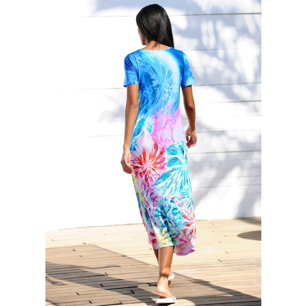 Alba Moda Strandkleid mit Fantasiedruck