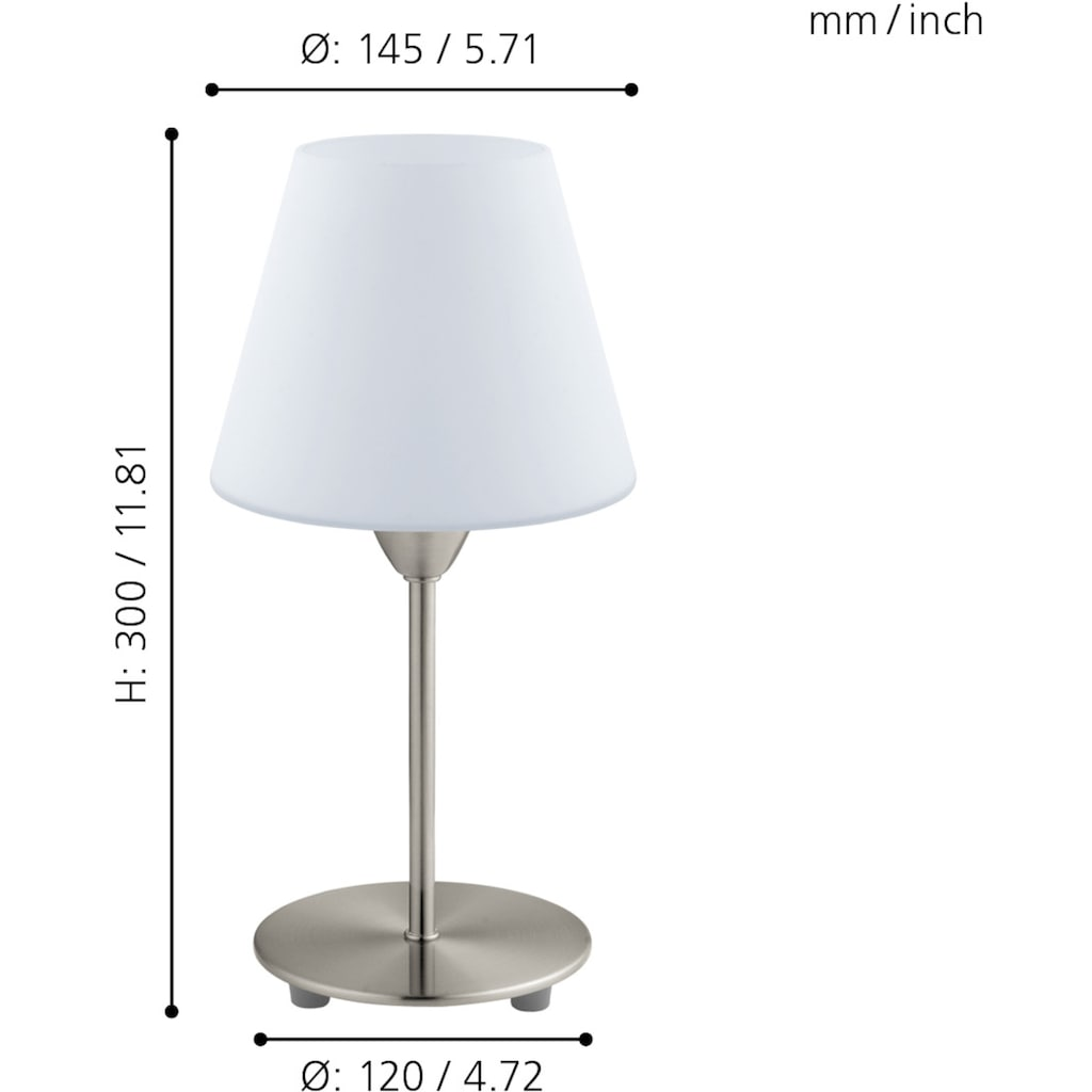 EGLO Tischleuchte »DAMASCO 1«, E14