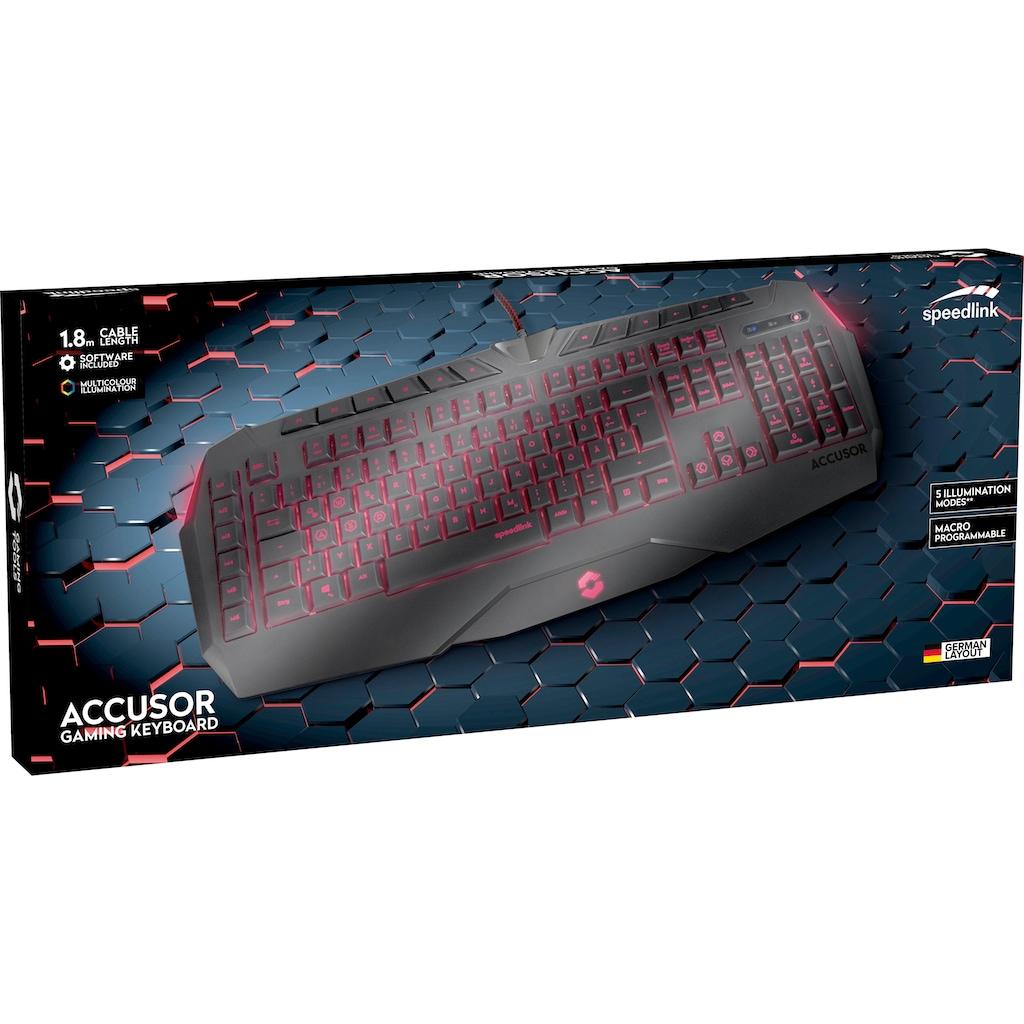 Speedlink Gaming-Tastatur »ACCUSOR Advanced«, (Multimedia-Tasten-Gaming-Modus-Fn-Tasten)