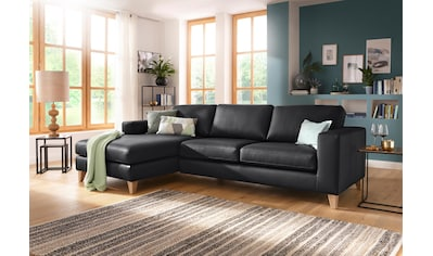 Home affaire Ecksofa »Wolin«, mit Massivholzfüßen im schönen Landhaus Design kaufen