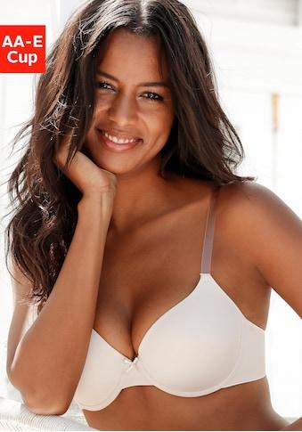 LASCANA Schalen-BH »»perfect basic««, mit Bügel und mit transparenten Trägern kaufen