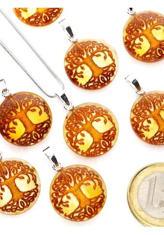 Adelia´s Kettenanhänger »Damen Schmuck Anhänger 925 Silber gelb Baum des Lebens« kaufen