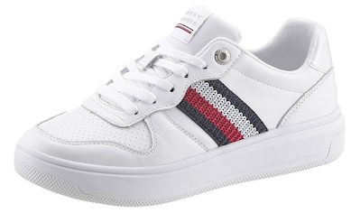 TOMMY HILFIGER Plateausneaker »CORPORATE TOMMY LEATHER CUPSOLE« kaufen