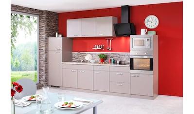 wiho Küchen Küchenzeile »Kansas«, mit E-Geräten, Breite 330 cm kaufen