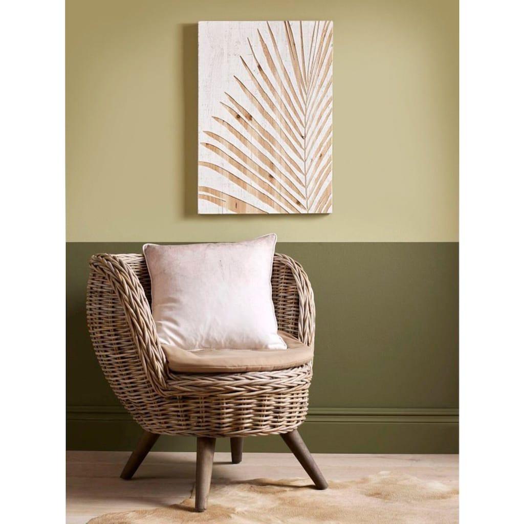 Art for the home Holzbild »Palme«, Pflanzen, 40x50cm