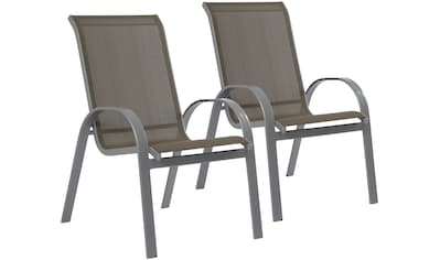 MERXX Gartenmöbelset »Amalfi«, 7 - tlg., 6 Sessel, Tisch 90x140 - 200 cm, Alu/Textil kaufen