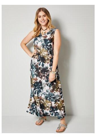 Sara Lindholm by Happy Size Maxikleid mit Batikdruck kaufen