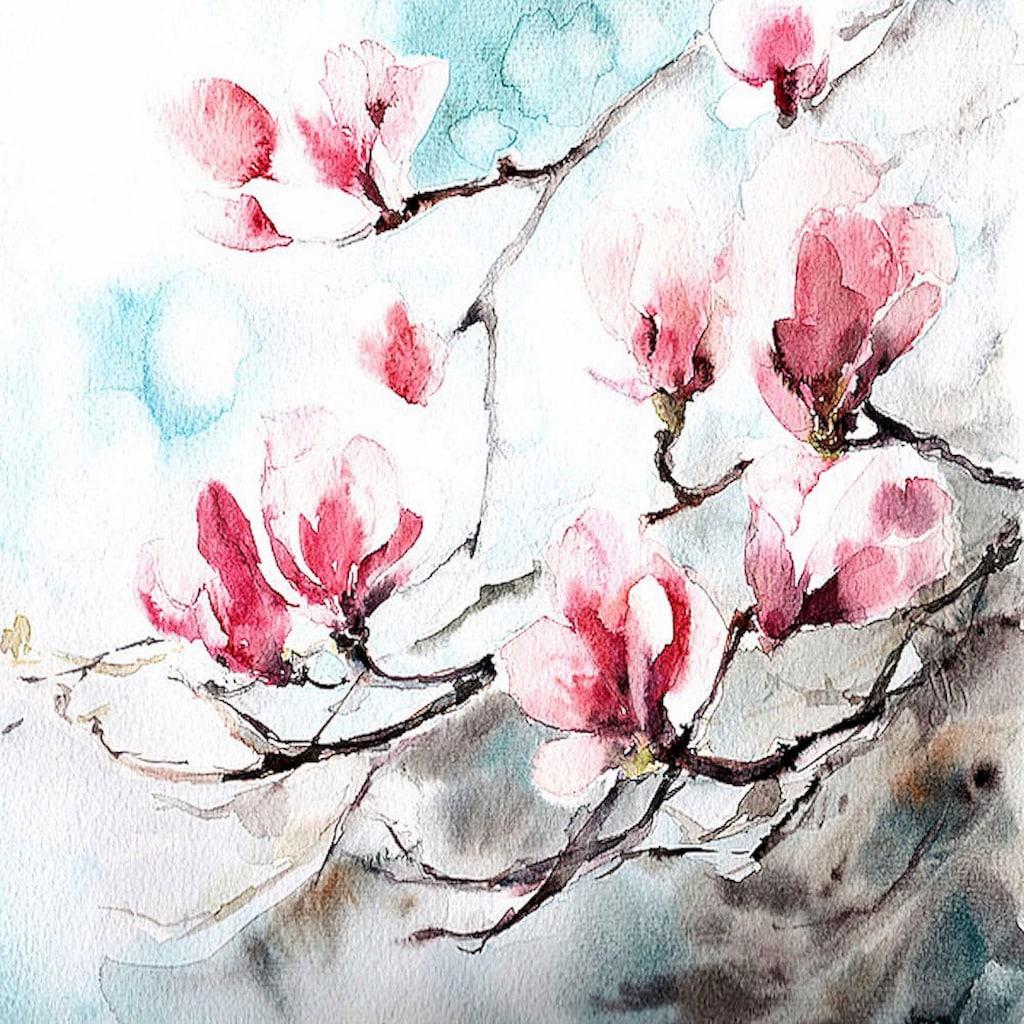 Home affaire Deco-Panel »Cannotstop / Magnolia, Spring«, 70/70/2 cm