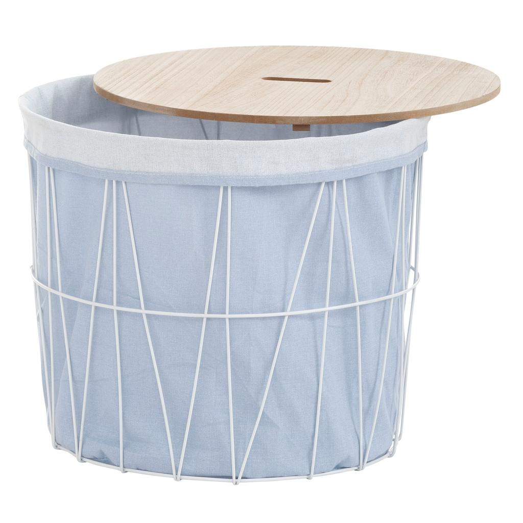 andas Wäschekorb »Vaxholm«, Ø ca. 46 cm, mit abnehmbarer Platte