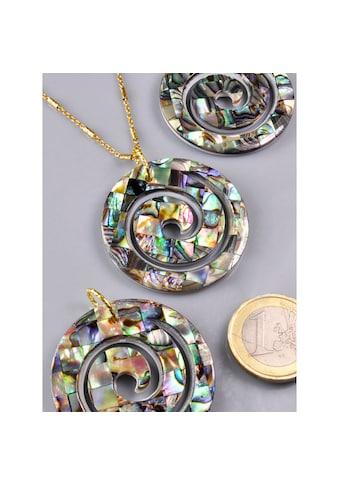 Adelia´s Kettenanhänger »Paua Muschel Anhänger 925 Silber vergoldet« kaufen