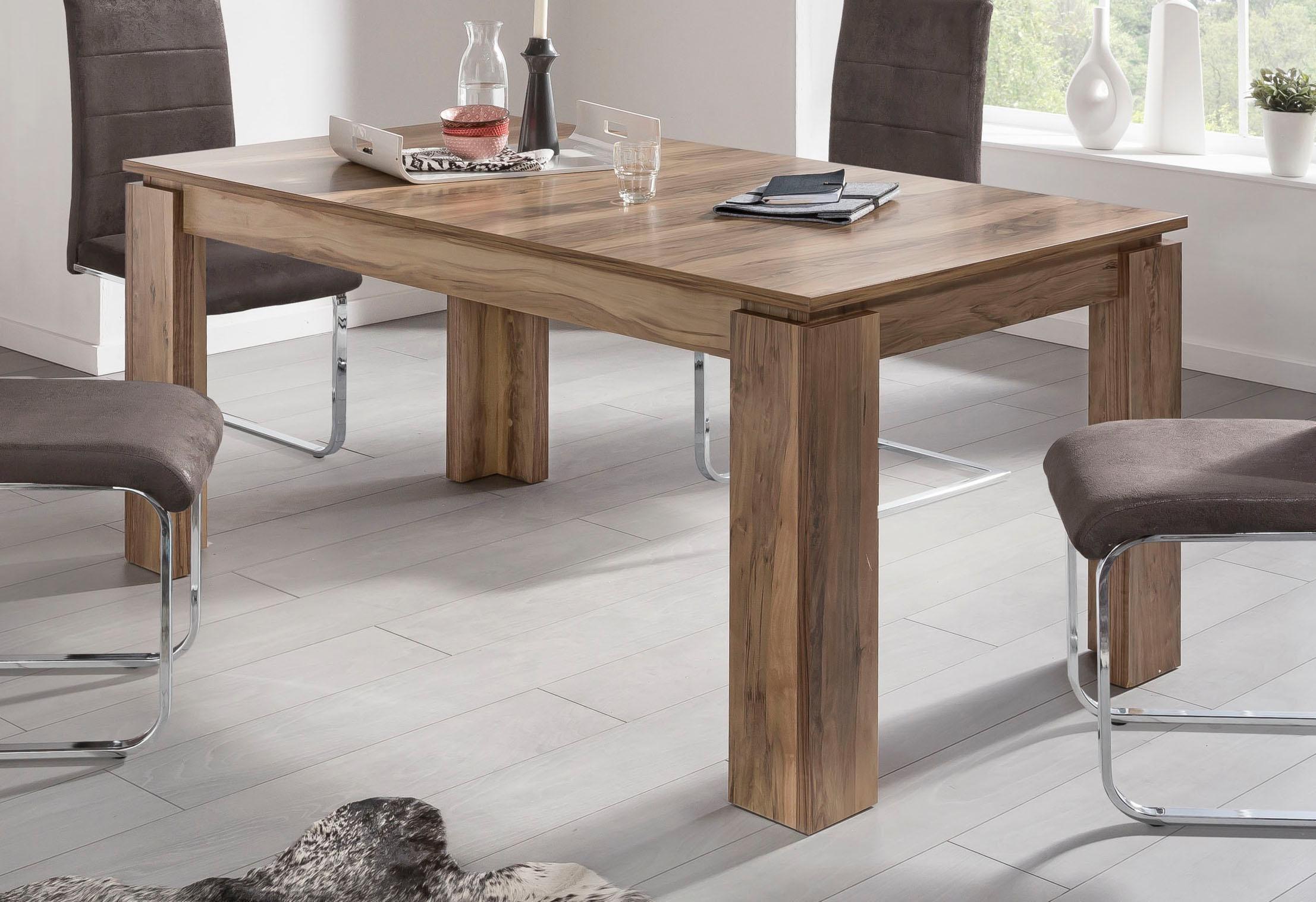 trendteam Esstisch, Länge 160-200cm braun Esstisch Ausziehbare Esstische Tische